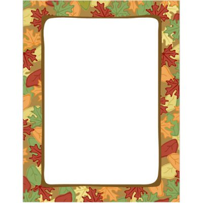 Artistic Fall Leaves Thanksgiving and Autumn Printer Paper