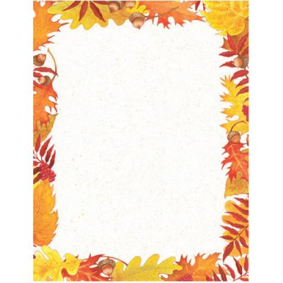 Fall Foliage Leaves Thanksgiving and Fall Paper