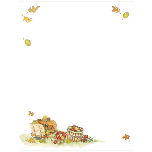 Fall Harvest Apples Thanksgiving and Autumn Printer Paper