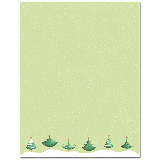 six christmas trees holiday printer paper - Christmas Paper