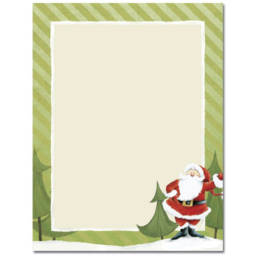 Jolly Santa Claus Christmas Paper