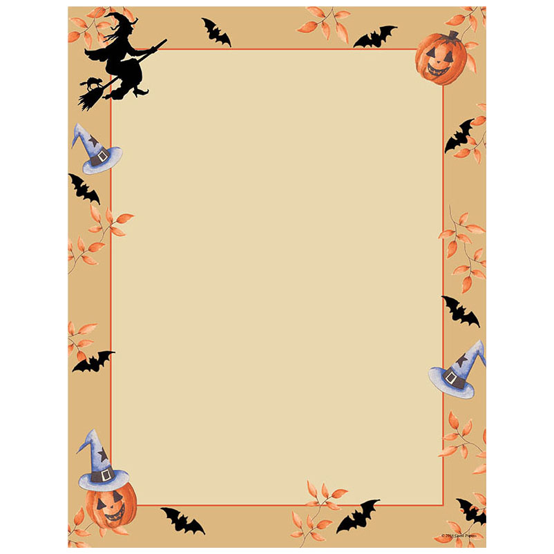 Home / Halloween / Halloween Harvest & Witch on Broomstick Paper