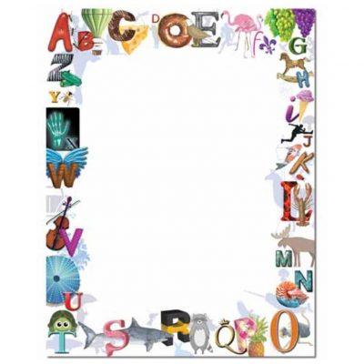 Colorful Alphabet Border Paper