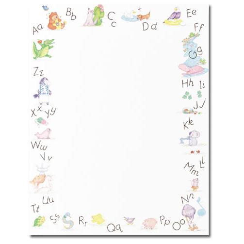Alphabet Border Kids Border Paper