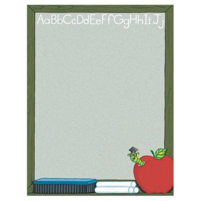 Chalk it Up Blackboard Border Paper