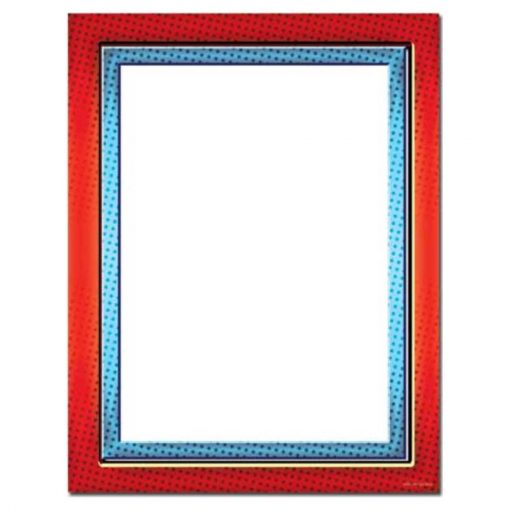 Red & Blue Border Letterhead Paper