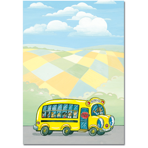 Yellow School Bus Printer Paper