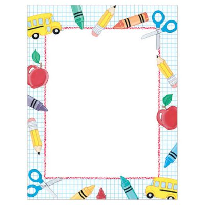 School Stuff Border Paper