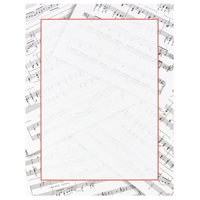 Sheet Music Border Paper