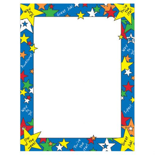Star of the Week Border Paper