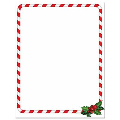 candy cane holly christmas paper