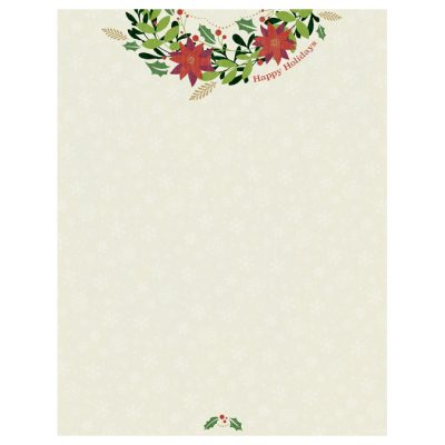 Happy Holidays Wreath Christmas Printer Paper
