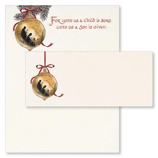 Holy Family Religious Christmas Paper & Envelopes