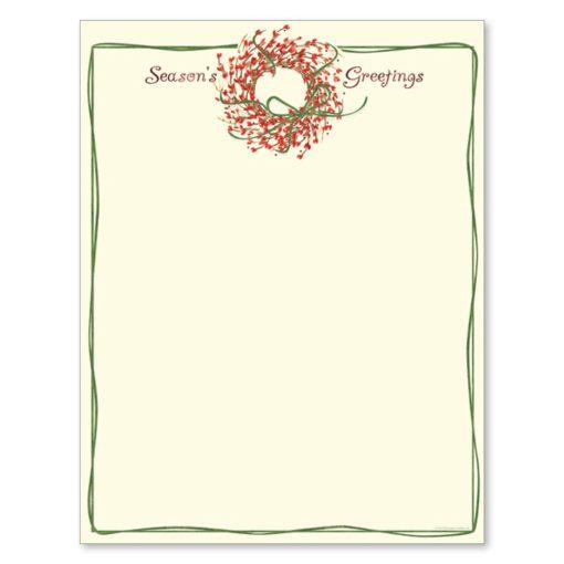 Season's Greetings Christmas Wreath Holiday Printer Paper