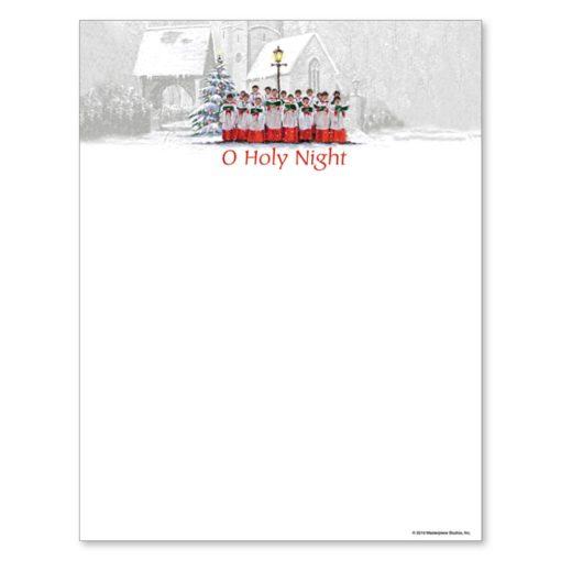 Choir Singing O Holy Night Christmas Holiday Printer Paper