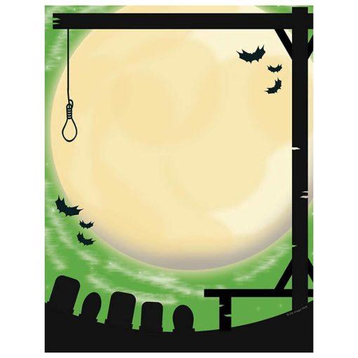 creepy-graveyard-gallows-halloween-computer-printer-paper