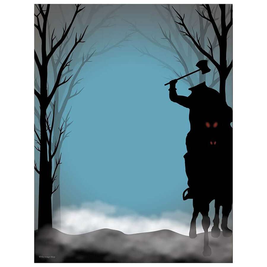 headless-horseman-halloween-computer-printer-paper