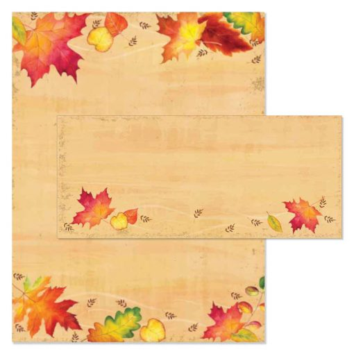 Falling Leaves Thanksgiving Printer Paper and Envelopes