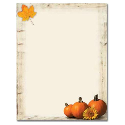 Pumpkin Sunflower Computer Printer Paper