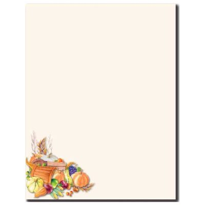 Plentiful Harvest Fall & Autumn Thanksgiving Printer Paper