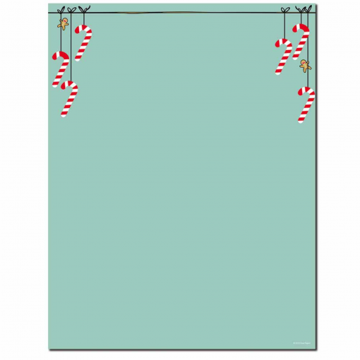 Minty Candy Cane Christmas Holiday Paper