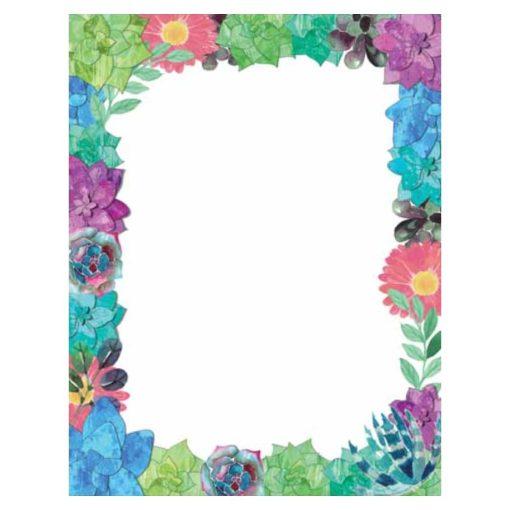 Succulent Floral Spring Flowers Paper